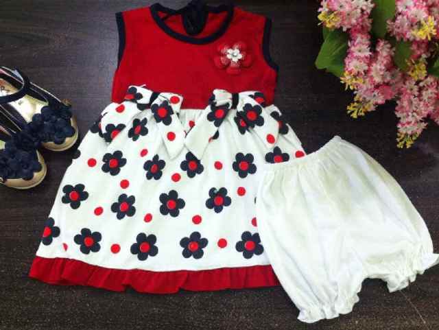 15157 . dres baby ROCIO bross flower + celana red