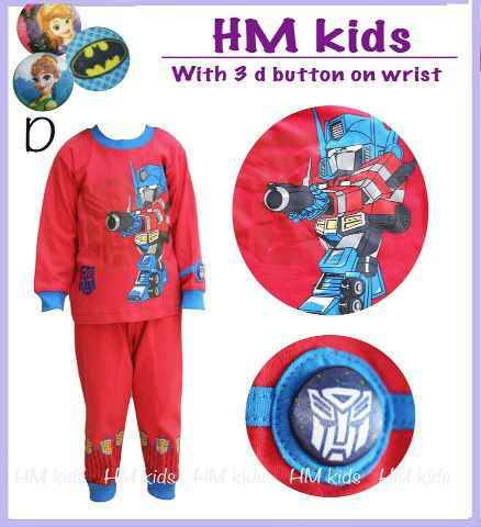 Kode 16222. Piyama Pjm HM Robot Red small