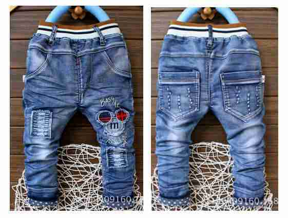 16262 . pant jeans boys bordir mickey
