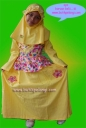 JOV-510-8 : Dress Habibah Yellow Flower Size 8